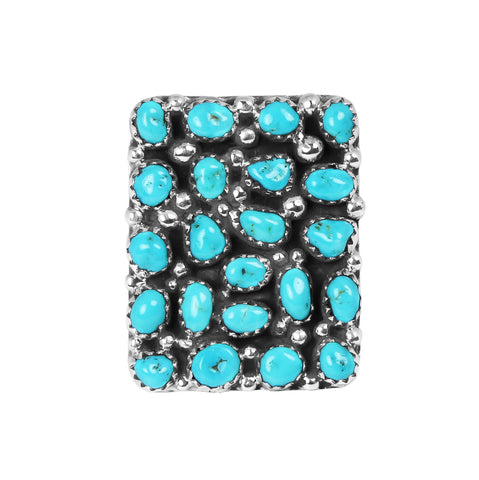 Square Sleeping Beauty Turquoise Ring - Style 2