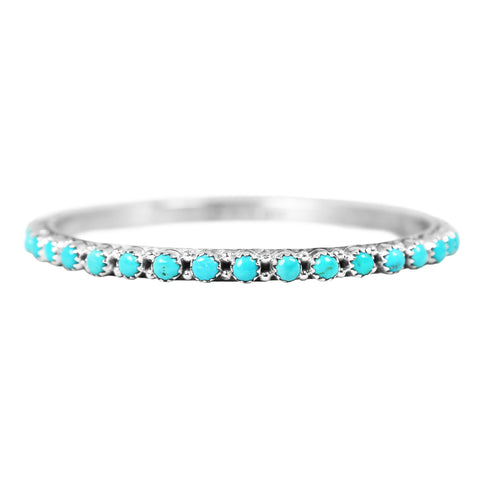 Sleeping Beauty Turquoise Eternity Bangle Bracelet