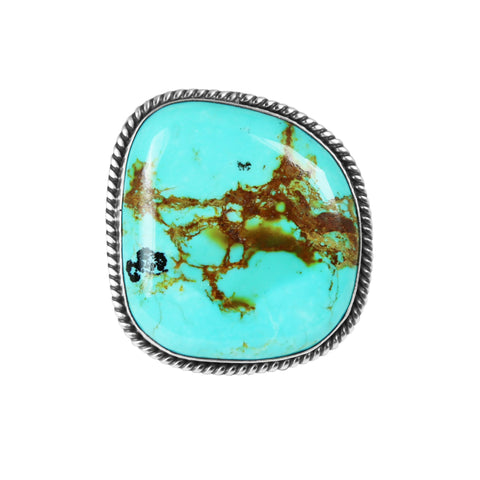 Freeform Kingman Turquoise Statement Ring