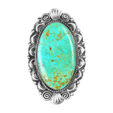 Oval Kingman Turquoise Statement Ring