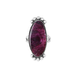 Purple Spiny Oyster Navajo Silver Ring