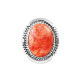 Oval Red Spiny Oyster Navajo Ring