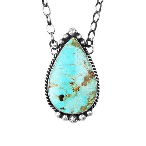 Medium Number 8 Turquoise Chain Necklace