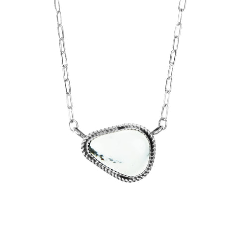 Freeform White Buffalo Bar Necklace