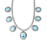 Golden Hills Turquoise Silver Necklace Set
