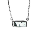 Small White Buffalo Bar Necklace