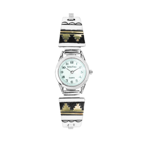 Tommy Singer Silver & Gold-Filled Navajo Watch