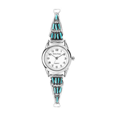Zuni Turquoise Needlepoint Ladies Watch