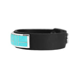 Sleeping Beauty Turquoise Inlay Leather Bracelet
