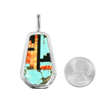 Turquoise & Spiny Oyster Santo Domingo Inlay Pendant
