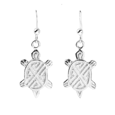 Hopi Silver Cast Turtle Earrings