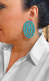Sleeping Beauty Turquoise Navajo Point Earrings