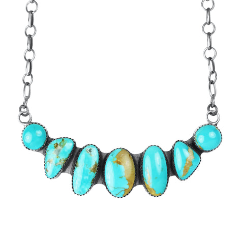Seven Stone Kingman Turquoise Bar Necklace