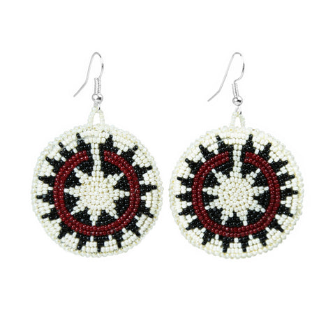 Beaded Navajo Wedding Basket Earrings