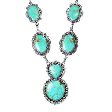 HUGE Kingman Turquoise Statement Necklace