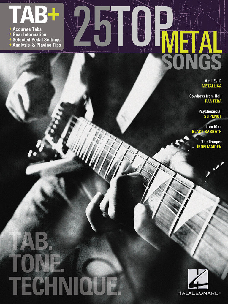 25 Top Metal Songs - Tab. Tone. Technique. - NewBay Media Online Store