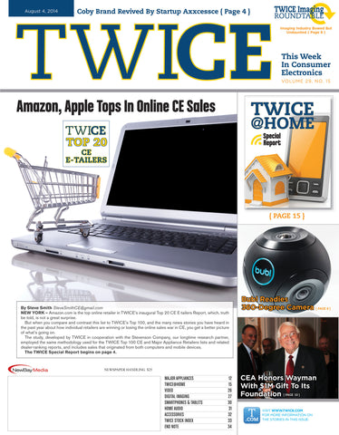 TWICE Top 20 CE eRetailers - August 4th, 2014