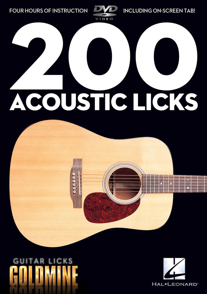200 Acoustic Licks-Guitar Licks Goldmine - DVD - NewBay Media Online Store