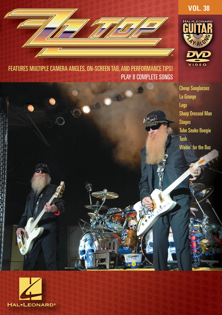 ZZ Top Guitar Play-Along DVD Volume 38