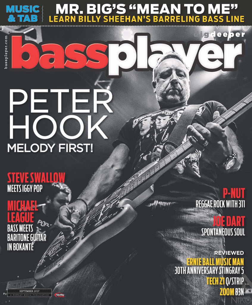 Bass Player - September 2017 - Peter Hook - Melody First ! - NewBay Media Online Store