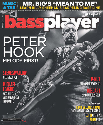 Bass Player - September 2017 - Peter Hook - Melody First !
