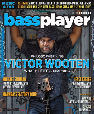 Bass Player - November 2017 -  Victor Wooten - What He's Still Learning - NewBay Media Online Store