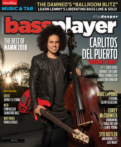 Bass Player - April 2018 - Carlitos Del Puerto - NewBay Media Online Store