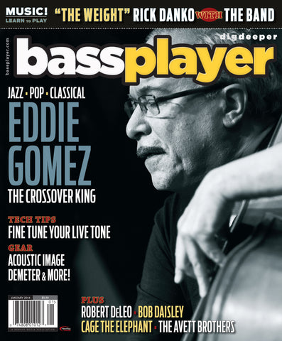 Bass Player - January 2014 - Eddie Gomez - NewBay Media Online Store