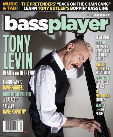 Bass Player - September 2014 - Tony Levin - NewBay Media Online Store