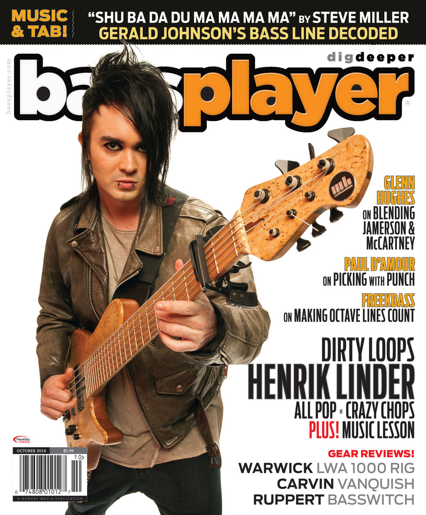 Bass Player - October 2014 - Henrik Linder - NewBay Media Online Store