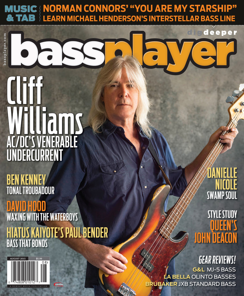 Bass Player - August 2015 - Cliff Williams - NewBay Media Online Store