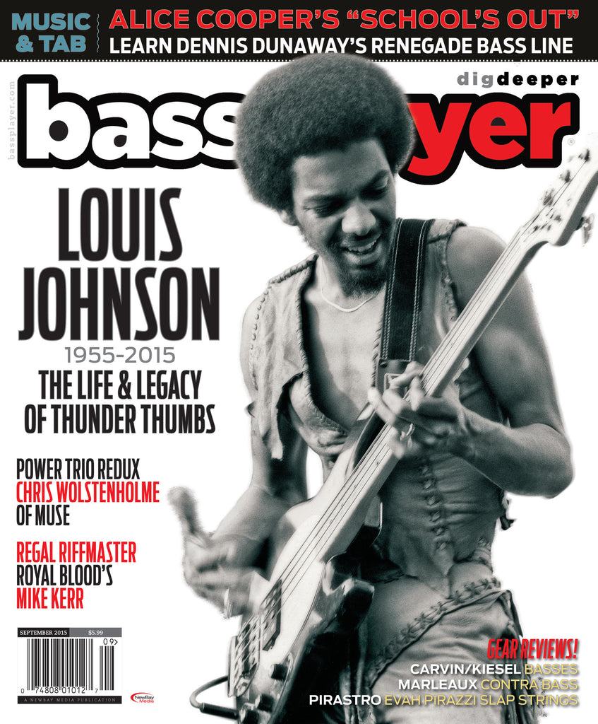 Bass Player - September 2015 - Louis Johnson - NewBay Media Online Store