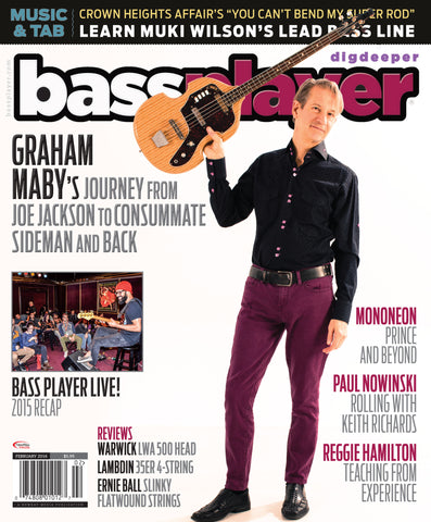 Bass Player - February 2016 - Graham Maby - NewBay Media Online Store