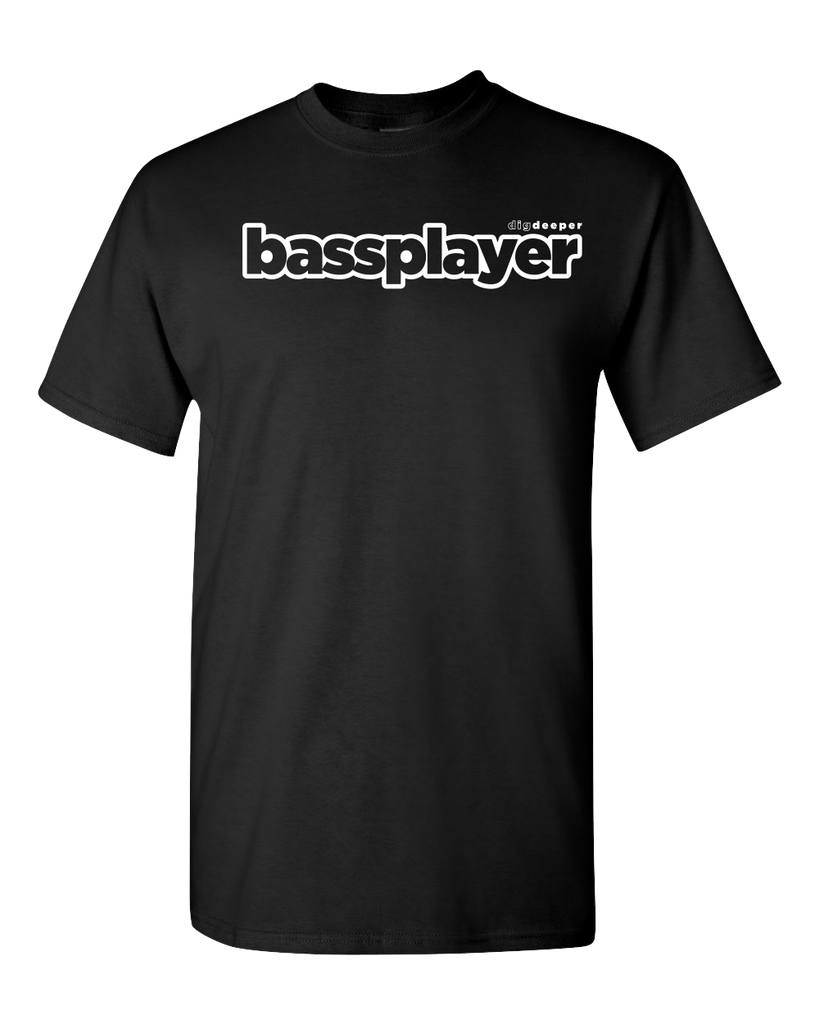 Bass Player Black Logo T-Shirt - NewBay Media Online Store