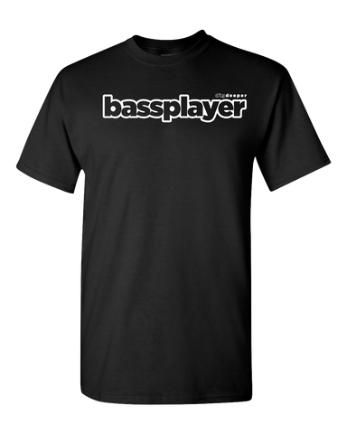 Bass Player Black Logo T-Shirt