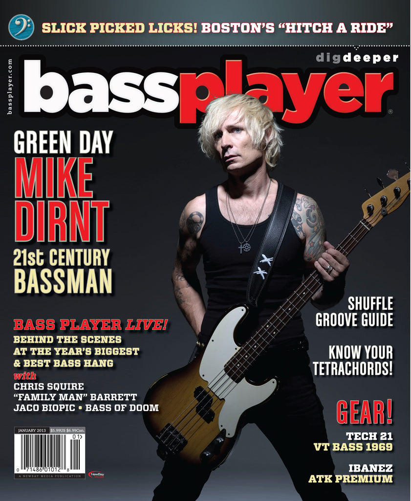 Bass Player - Jan 2013 - Mike Dirnt - NewBay Media Online Store