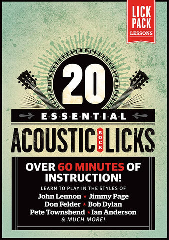 20 Essential Acoustic Rock Licks: Full Version - NewBay Media Online Store