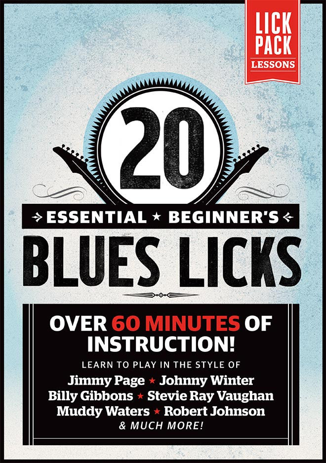 Lick 1-Basic Blues Rhythm in E, Bars 1-4