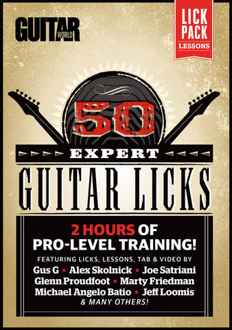 50 Expert Guitar Licks - TABS ONLY - NewBay Media Online Store
