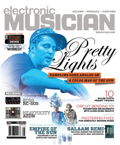 electronic MUSICIAN - August - 2013 - Pretty Lights - NewBay Media Online Store