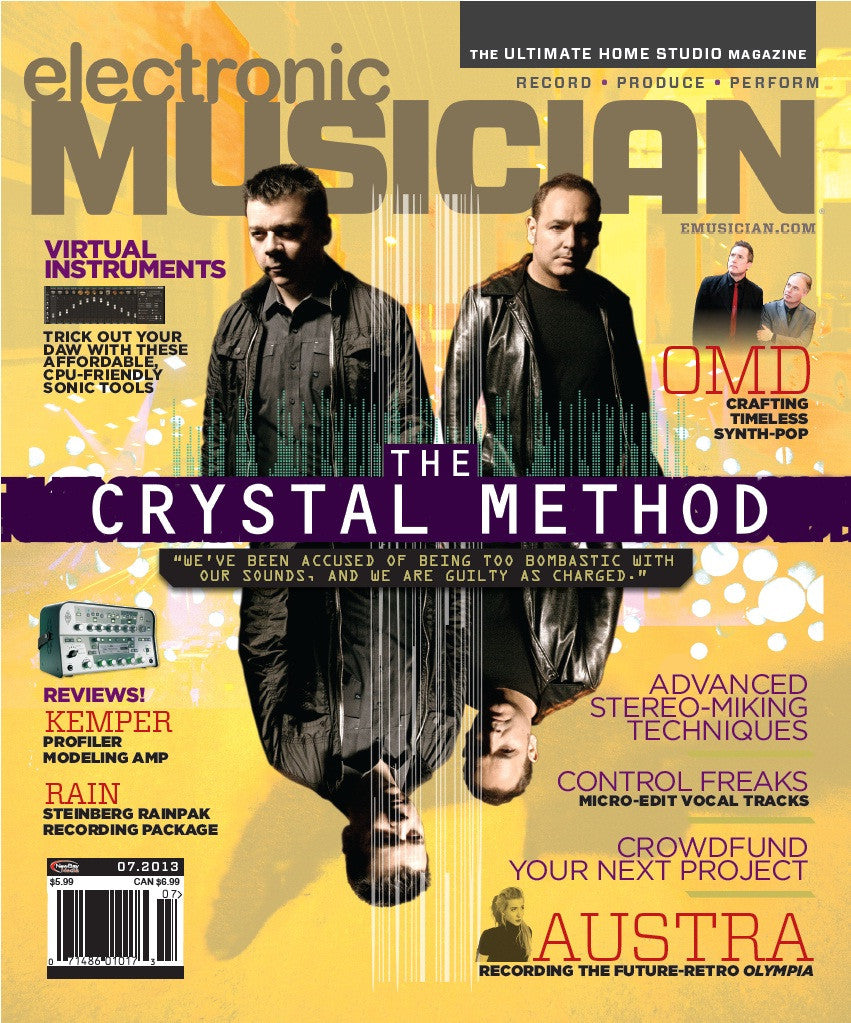 electronic MUSICIAN - July - 2013 - The Crystal Method - NewBay Media Online Store