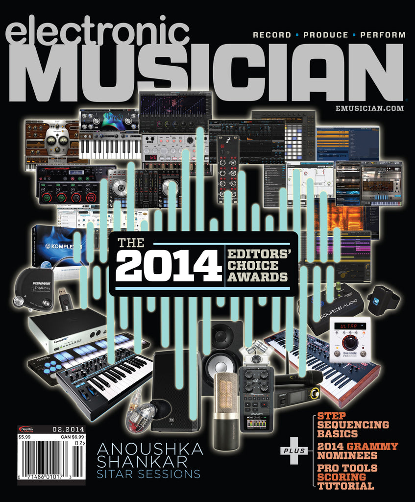 electronic MUSICIAN - February 2014 - Editor's Choice Awards - NewBay Media Online Store