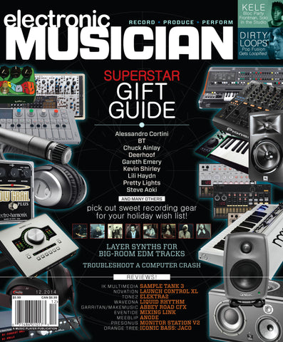 electronic MUSICIAN - December 2014 - Superstar Gift Guide - NewBay Media Online Store