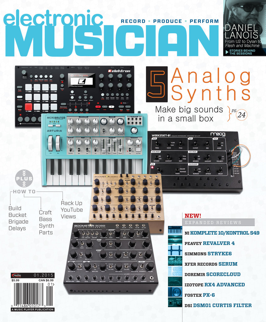 electronic MUSICIAN - January 2015 - 5 Analog Synths - NewBay Media Online Store