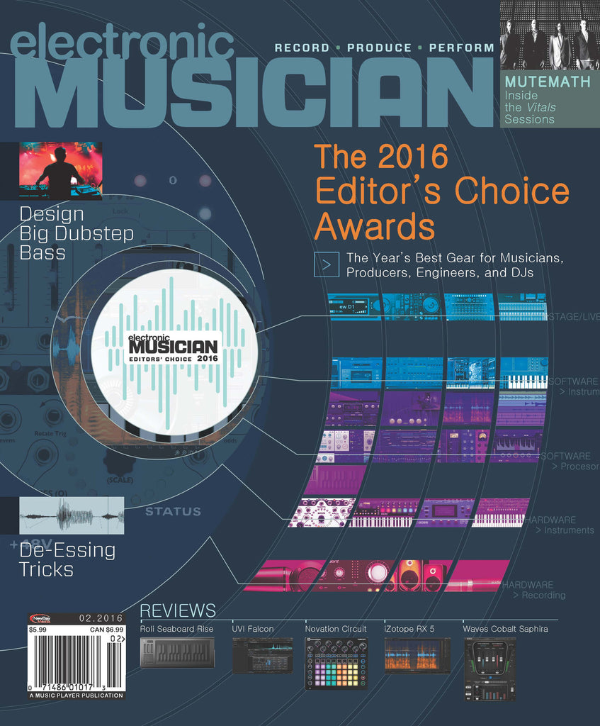 electronic MUSICIAN - February 2016 - The 2016 Editor's Choice Awards - NewBay Media Online Store