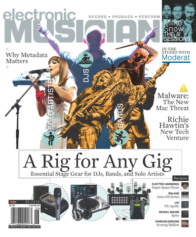 electronic MUSICIAN - June 2016 - In the Studio with Moderat - NewBay Media Online Store