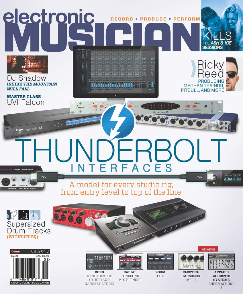 electronic MUSICIAN - August 2016 - Thunderbolt Interfaces - NewBay Media Online Store