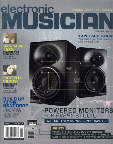 electronic MUSICIAN - October 2014 - Powered Studio Monitors - NewBay Media Online Store