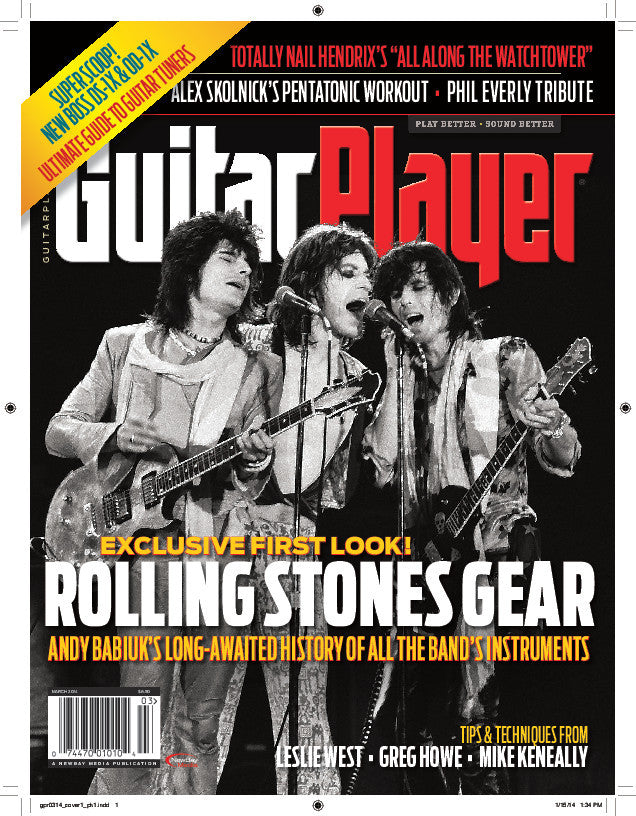 Guitar Player - March 2014 - Rolling Stones Gear