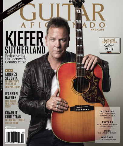 Guitar Aficionado – November/December 2016 - Kiefer Sutherland